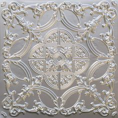 218 - Silver tin ceiling panel