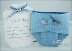 It's a boy diaper card