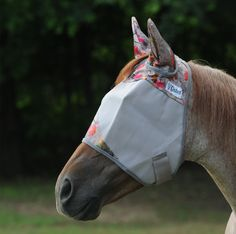 Cashel Crusader Patterned Standard Fly Mask with Ears | The Cheshire Horse