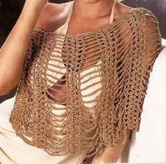 capita de sedabril tejida a crochet un accesorio de fiesta capita elegante crochet OjoconelArte.cl  