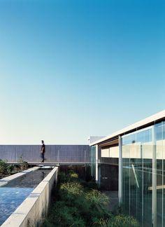 Ocho al Cubo House outdoor garden, by Sebastian Irarrazaval #architecture