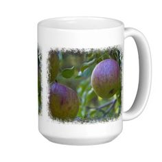 Apples 4 on White Mug #zazzle #mugs #apples #fruit