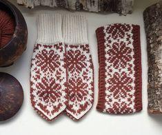 Vottemønster,Sokkemønster ,mønster til pannebånd og mini Selbu 🐑🇳🇴 | FINN.no Mittens Pattern, Fair Isle Knitting, Knitted Gloves, Keep Warm, Knit Crochet, Knitting Patterns, Textiles, Monogram, Embroidery