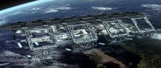 Starfleet ships — Enterprise E in dry dock
