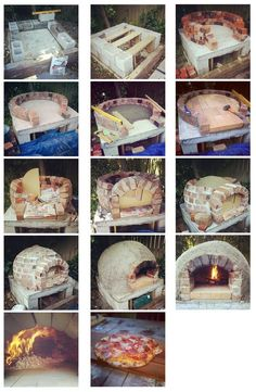Steps of building a brick oven - Pizzaofen - Wood Oven, Wood Fired Oven, Wood Fired Pizza, Wood Burning Oven, Pizza Oven Outdoor, Outdoor Cooking, Brick Oven Outdoor, Garden Pizza, Oven Diy