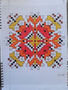 Folk Embroidery, Cross Stitch Embroidery, Cross Stitch Patterns, Cross Stitch Bookmarks, Yarn Projects, Cross Stitching, Mosaic, Crochet, Color Charts