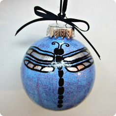 "Holiday Christmas Ornament: ""Dragonfly"" by RhythmsofGraceArt, $15.00"