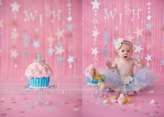 © Heidi Hope Photography  Love the Wish Upon a Star theme. Reminds me of Stella's cake smash.