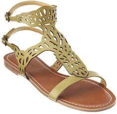#NineWest                 #Women #Shoes             #sandal #closure #upper #adjustable #laser #dual #leather                     PENLA                     Laser cut 1/4 sandal with dual adjustable closure. Leather upper.             http://pin.seapai.com/NineWest/Women/Shoes/1052/buy