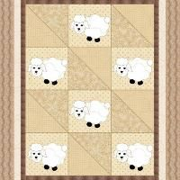 Sleepy Time Sheep Baby Quilt Pattern - via @Craftsy