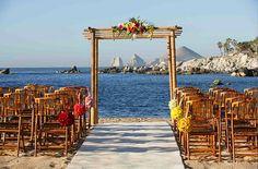 Cabo wedding ceremony decor