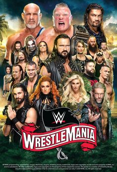 WWE WrestleMania 36 Poster by Chirantha on DeviantArt Wrestling Posters, Wrestling Wwe, Wwe All Superstars, Goldberg Wwe, Best Wwe Wrestlers, Wwe Events, Wwe Ppv, Wwe Raw And Smackdown, Wrestlemania 31