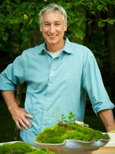 "Joe Lamp host of ""Growing a Greener World"" - a wonderful new PBS series. Be sure to check out the link to episode #319 with David Spain and some of his moss garden magic. David is a friend of the Moss Lady."