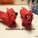 2D y 3D del encanto del cerdo