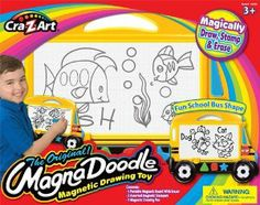 Cra Z Art Magna Doodle Bus by Cra Z Art. $11.99. Children love to draw and create and magnadoodle makes it easy and fun with no mess. Create designs using the included 3 magnetic stampers. Set Includes Portabel Drawing Board, 3 Stampers and Drawing pen. School Bus Shaped Magnadoodle makes drawing and learning even more fun. Drawing is fun with no mess. From the Manufacturer                The Original Magnadoodle Magnetic Drawing Toy makes drawing fun and easy with no mess. Ma...