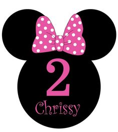 Girls CT Minnie Mouse Polka Dot Bow Birthday Invitation (Multiple Colors)