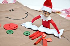 This easy Elf on the Shelf idea is awesome! Instead of just baking, have your elf deliver a DIY gingerbread apron and crafting supplies from @orientaltrading. #orientaltrading #elfontheshelf #ad