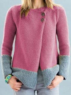 Cardigans For Women, Types Of Sleeves, Sweater Cardigan, Knit Crochet, Knitting Patterns, Casual Outfits, Sweaters, Cotton, Clothes