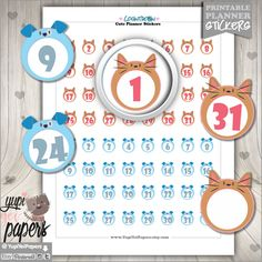 50%OFF - Countdown Stickers, Planner Stickers, Reminder Stickers, Planner Accesories, Numbers, Cat Stickers, Dog Stickers, Digital Stickers