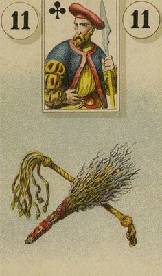11  The Whip - The Lenormand Oracle by Marie Anne Adelaide Lenormand