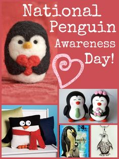 January 30th is National Penguin Awareness Day - 7 sweet gift ideas for the penguin lover in you life.