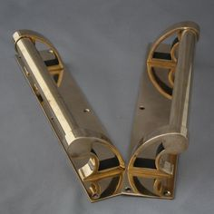 Art Deco Door Hardware For Pair Rose Br Pull Handles