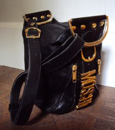 Vintage 80s Designer Moschino Black leather by nanapatproject, $110.00