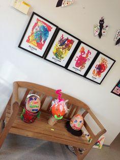 ♥Fruea♥: Sommer kunst udstilling - børnehaven