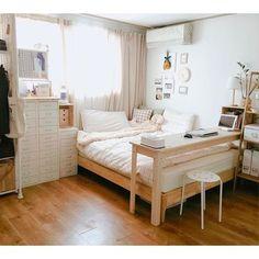"""Wazzadu : """"หอแคบๆก็แต่งให้สวยได้"""" รวม 20 ไอเดีย ตกแต่งห้องนอนสไตล์ Muji สำหรับห้องที่มีพื้นที่จำกัด !"""