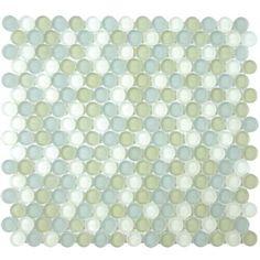 "Nantucket Sound Blnd (Frosted)  Circles [11 1/2"" x 12 3/8""]  Part #:  GL1428-M034F1"