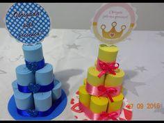 Como fazer  mini bolo de fralda em EVA para lembrancinha - YouTube