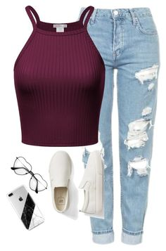 """Very cute, yet simple 3"" by lollypopz951 on Polyvore featuring Topshop and Gap"
