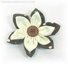 Double layer 6 Petal Flower  By Cherie | The Ribbon Retreat