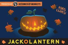 Free for a limited time! The link will show the original price, but it is a free download until Nov 6th.  Glowing Jack-O-Lantern Vector Art by designedbymonkeys on @creativemarket  This single Jack-o-lantern vector illustration will light up your life. It is carefully layered to give an authentic night-time candle glow from within, plus a moonlight halo for an extra spooky effect.  Invitations, greeting cards, social media, graphic, design, ad, affiliate