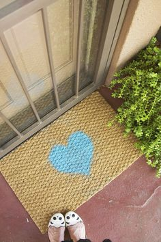 Diy Painted House Doormat Painted Houses Craft Paint