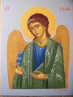Αρχάγγελος Μιχαήλ - Αυγοτέμπερα σε ξύλο. Archangel Michael - Egg tmepera on wood.