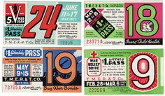 Vintage bus passes - love these! Wish I could find some to use in my art work!