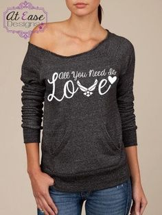 Military LOVE SLOUCHY sweater.