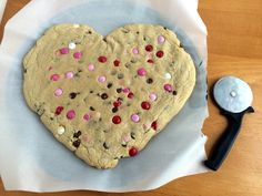 Giant Heart Chocolate Chip Cookie Recipe