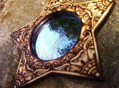 Henna Flower Star Mirror  Hand Drawn and by GreenwoodCreations13, $40.00