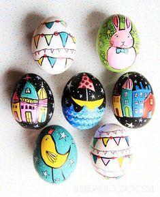Whimsical Easter Eggs From Alisa Burke , Whimsical Easter Eggs From Alisa Burke. Easter Egg Dye, Easter Art, Easter Crafts For Kids, Bunny Crafts, Easter Decor, Alisa Burke, Easter Egg Designs, Easter Holidays, Egg Decorating