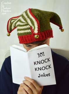 Court Jester, Joker or Elf Hat Crochet Pattern Super Silly and Super Fun! This hat is perfect for dressing up for Mardi Gras or a Renaissance Festival, Halloween or Christmas or just for anytime fu...