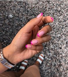 You could also refresh the French manicure by switching the white tips with bright-colored ones. Save Save Share via: Shares 6 1 Coloured French Manicure, Summer French Manicure, Colored Nail Tips, Summer Acrylic Nails, Long Square Nails, Nails Today, Manicure Colors, Acylic Nails, Nails First