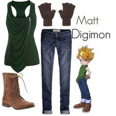 """Matt - Digimon"" by teamrocketme on Polyvore"
