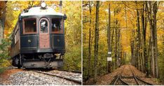 This Vintage Ontario Streetcar Takes You Through Enchanting Leafy Trails This Fall Historic Railway Near Toronto Takes You Through Beautiful Trails This Fall - Narcity Oh The Places You'll Go, Great Places, Places To Travel, Places To Visit, Ontario Travel, Ontario Camping, Autumn Scenery, Canada Travel, Day Trips