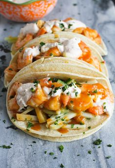 Teriyaki Shrimp Taco