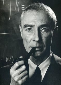 "Not to forget the pibe - J. Robert Oppenheimer - American theoretical physicist and professor of physics at the University of California, Berkeley. He is among the persons who are often called the ""father of the atomic bomb"". Photo by Philippe Halsman Robert Oppenheimer, Philippe Halsman, Hero Movie, Physicist, Magnum Photos, Science And Nature, Les Oeuvres, American History, Famous People"