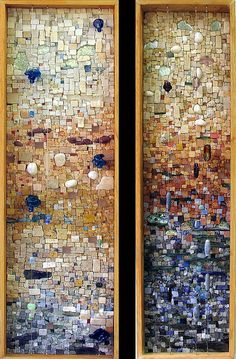 Perfect Day (left) Glad I Spent It With You (right) ~ artist Marian Shapiro #art #mosaic