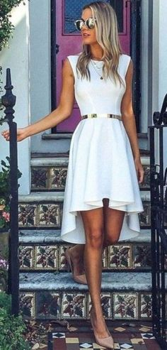 60 Business And Trending Fall Outfits Of Executive Peonies From Showpo Label White Midi Dress Little White Dresses, White Outfits, Trendy Summer Outfits, Fall Outfits, Fashion Outfits, Casual Dresses, Short Dresses, Summer Dresses, Dinner Dresses