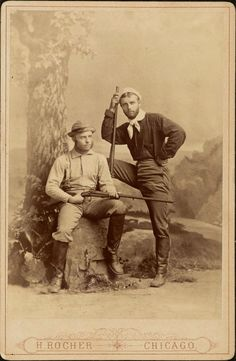 ca. 1880, [cabinet card, portrait of Theodore and Elliott Roosevelt in hunting outfits], H. Rocher via the Harvard College Library, Theodore Roosevelt Collection